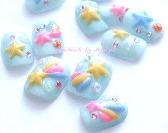 Holiday nail party nail bling nail nail swag gift for by Aya1gou