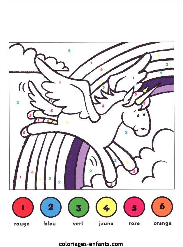 38 best coloriage magique images on pinterest coloriage magique coloriage pour les enfants et - Dessin code maternelle ...