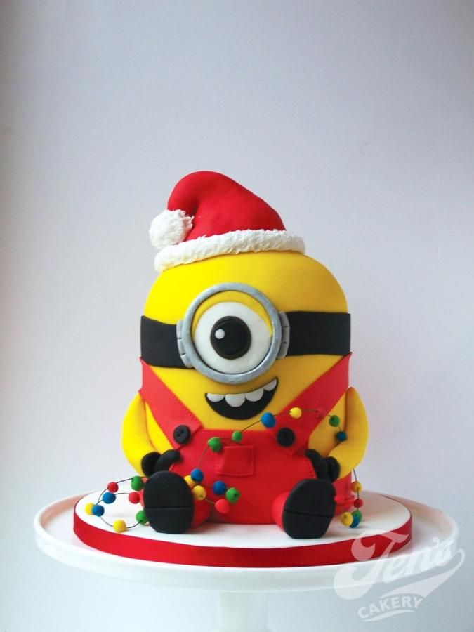 Minion christmas - Cake by Jen's Cakery