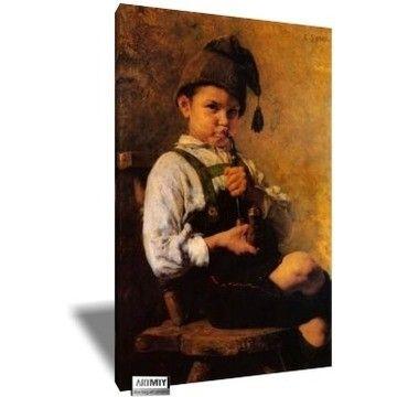 Η καινούρια πίπα του παππού, Γεώργιος Ιακωβίδης | Καμβάς, αφίσα, κορνίζα, λαδοτυπία, πίνακες ζωγραφικής | Artivity.gr