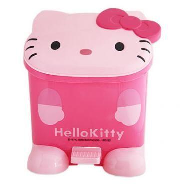 Hello Kitty Wastebadket Pedal Trash Can Dustbin Sanrio