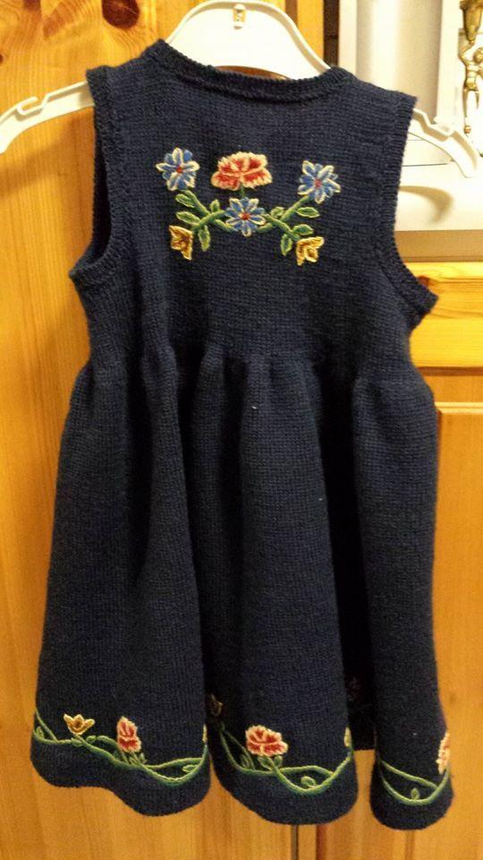 Nordlandsbunad.   Baby's traditional dress from Nordland, Norway .