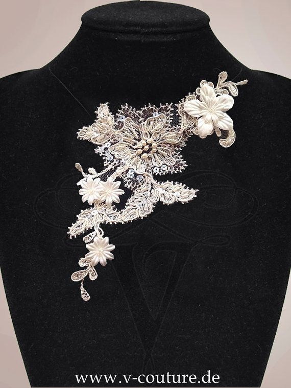 #Lace #necklace, made by V-Couture.