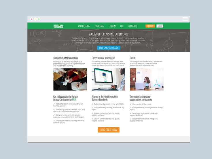 Horizon Energy Curriculum Website | Varró Joanna Design | Website | Web Design | Graphic Design | Inspiration | Graphic Designer
