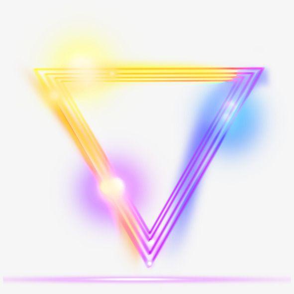 Yellow Simple Triangular Light Effect Element Yellow Simple