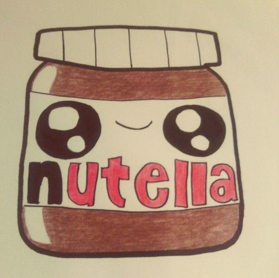 Cute kawaii nutella drawing | Nutella, Dessin