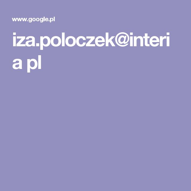 iza.poloczek@interia pl