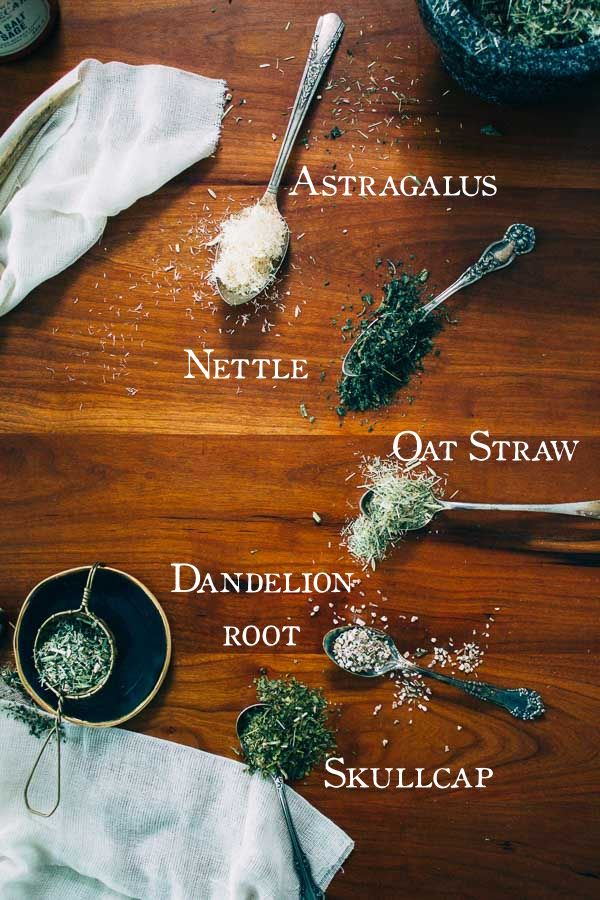 January Steep | Nettle, Oat Straw, Astragalus, Skullcap & Dandelion Root. Monthly herbal  infusion formulas