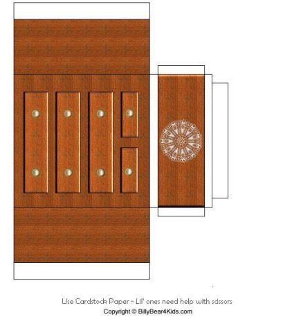 Maqueta de una comoda recortable de un mueble auxiliar | MAQUETAS ...