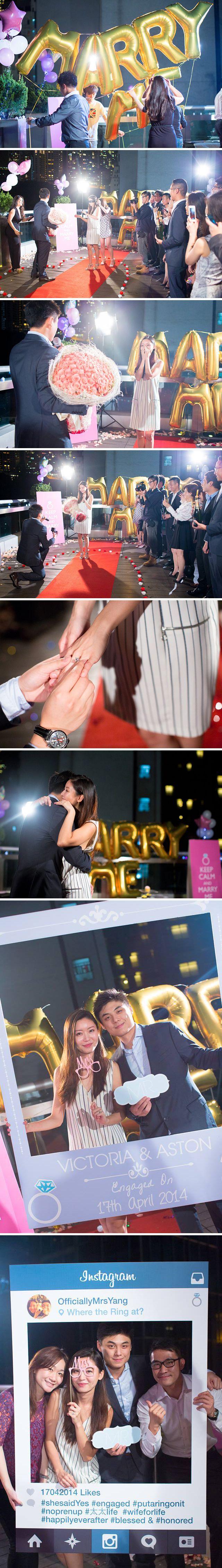 Surprise proposal at a rooftop bar in Hong Kong // Proposal inspiration