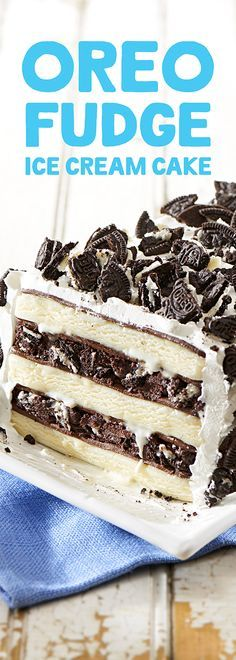 OREO Fudge in the summer? Yes please!  This delicious OREO dessert only looks complicated. It's simple to make, with only 10 minutes of prep needed, thanks to the help of some tasty ice cream sandwiches. Stick it in the freezer while you prepare for a get together with friends and family! Serve when frozen.