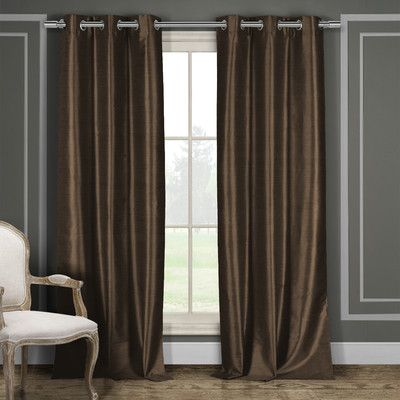 Corkermain Solid Blackout Grommet Curtain Panels