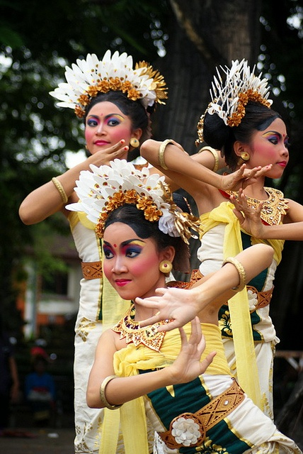 Balinese dancers. indonesia