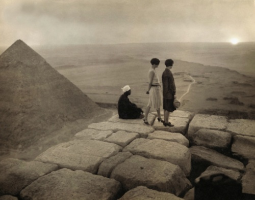 The pyramids in the '20s.  Before they stuck a KFC down the bottom of Giza.