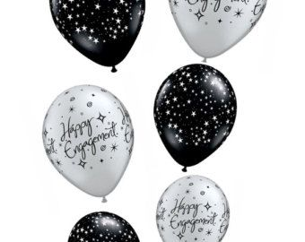 Verlovingsring ballon bruids douche Decor Engagement door XoAS