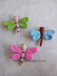Dragonfly ~ Zan Crochet, #crochet, free pattern, amigurumi, jewellery, decoration, #haken, gratis patroon (Engels), libelle, insect, sieraden, decoratie, #haakpatroon
