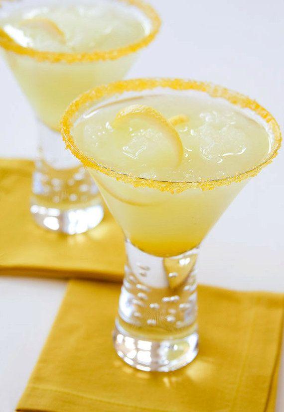 Ricette di zucchero aromatizzato - goccia di limone zucchero cocktail rim - martini, direzioni incluse