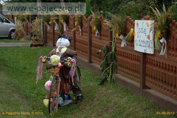 dożynkowe dekoracje gawłów gmina rząśnia
