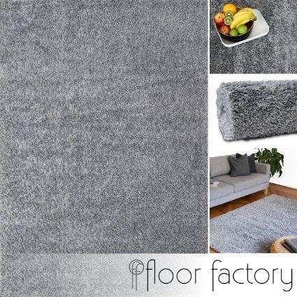 90 Alfombra moderna Colors gris argentado 160x230cm - alfombra shaggy al precio súper económico