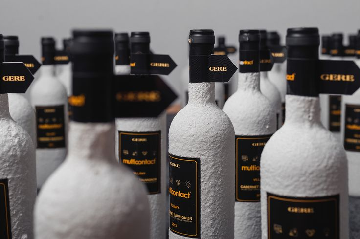 The concrete surface is a design innovation that grants new character to bottle surfaces with the use of technology. Product Design by REMION, Budapest
