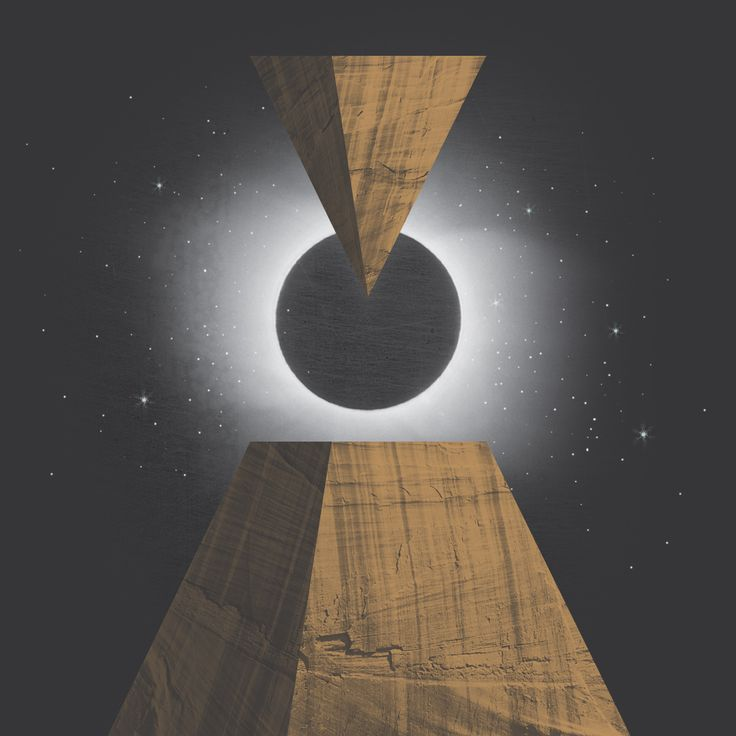 All-seeing Eclipse, pyramid and stars  |  Collage by Studio Lowbrow