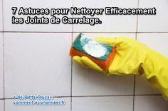 Nettoyer ses joints de carrelage efficacement, ce n'est pas toujours simple.  Découvrez l'astuce ici : http://www.comment-economiser.fr/nettoyer-joints-carrelage.html?utm_content=buffer0e9fd&utm_medium=social&utm_source=pinterest.com&utm_campaign=buffer