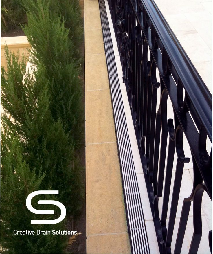 A rebate was formed to suit our Height Adjustable Grate producing a stylish balcony drainage solution