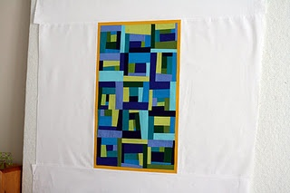 Gorgeous! Love the orange/yellow frame.Quilt Design, Contemporary Quilt, Abstract Quilt