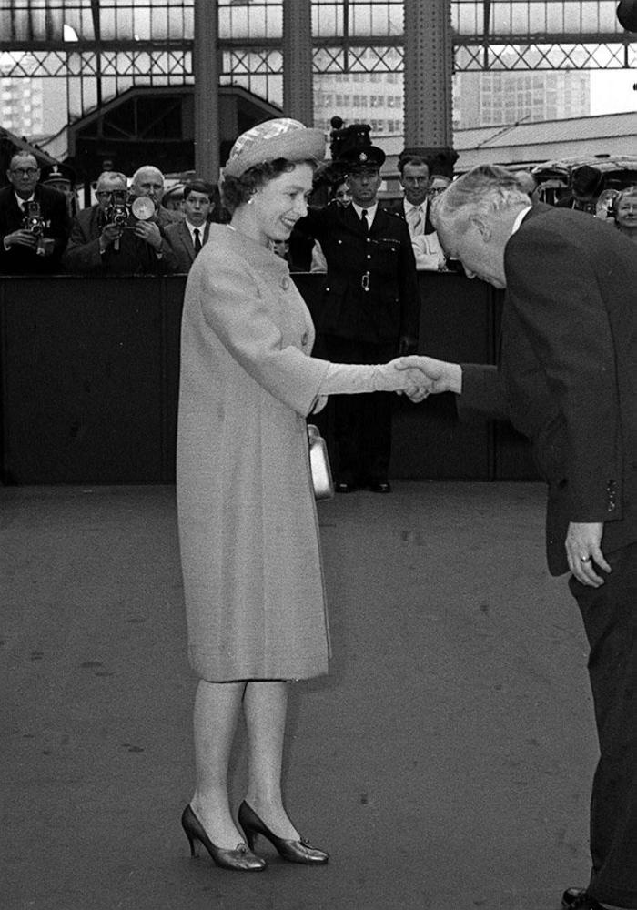 """The Queen and her Prime Minister's: Harold Wilson  Wilson described his visits with the Queen as """"going to see mother""""."""