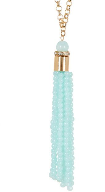 Madison Parker Beaded Tassel Drop Pendant Necklace