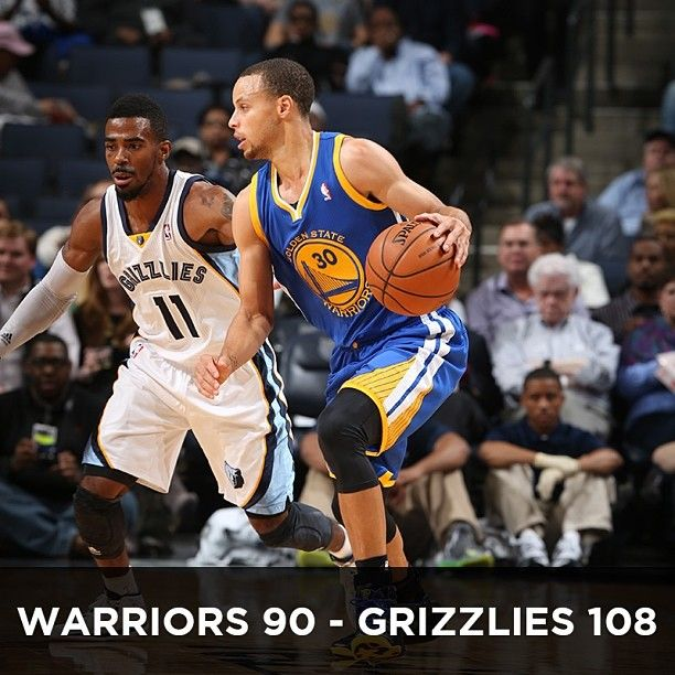 The Warriors ran out of gas tonight, falling to the Grizzlies 108-90. The loss concludes the Warriors' four-game road-trip with a record of 2-2, and is the first time the Dubs have lost consecutive games all season. Stephen Curry led the team with 22 points and five assists, while Andre Iguodala added 19 points and five rebounds. The Warriors will now head home for their first of three-straight games at Oracle Arena, beginning on Tuesday night against the Detroit Pistons.