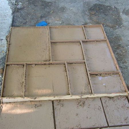 HOME DZINE Home Improvement | Make your own paving block and pave stones