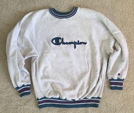 Champion sports crewneck vintage sweatshirt Reverse Weave throwback retro sporting goods baseball football basketball