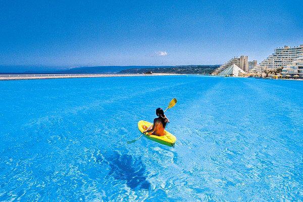 #world's largest pool #Algarrobo, Chile