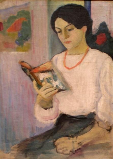 woman reading - August Macke (1887-1914)
