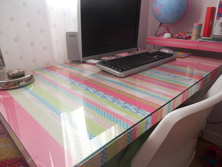 Washi tape DIY table............... AWESOME