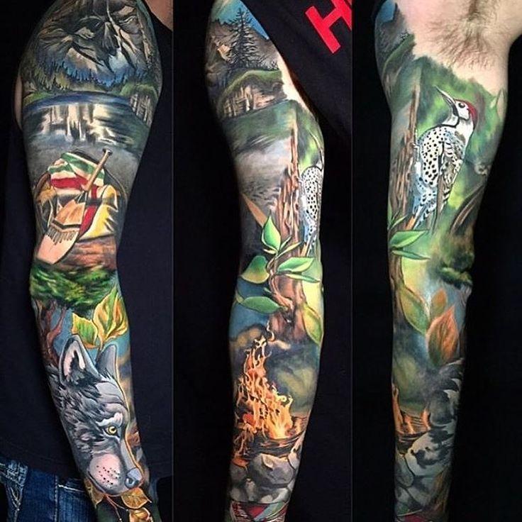 28 Colored Full Sleeve Tattoos: 35 Best Selva O Jungla Tattoo Images On Pinterest