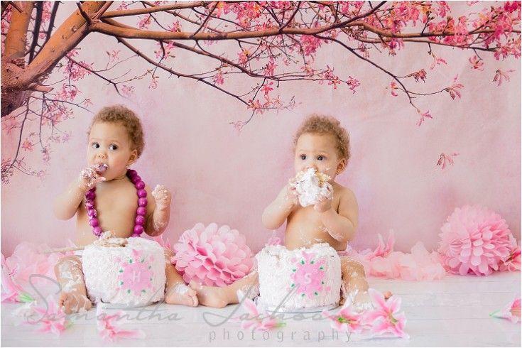CAKE SMASH - HANNAH & SARAH  http://samanthajacksonphotography.co.za/wedding-blog/cake-smash-spring-fever-hannah-sarah  #cakesmash #twins #samanthajacksonphotography #capetownphotographer #springcakesmashtheme #spring #pink
