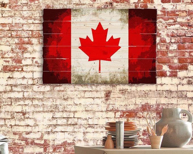 3d Canadian Flag Canada Flag Maple Leaf Rustic Distressed