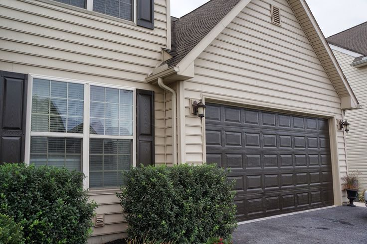 63 best curb appeal ranch house images on pinterest diy for How tall is a garage door