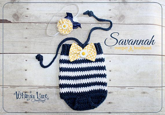 Newborn Romper Swimsuit   Photo Prop  Baby by whimsylaneboutique, $36.00