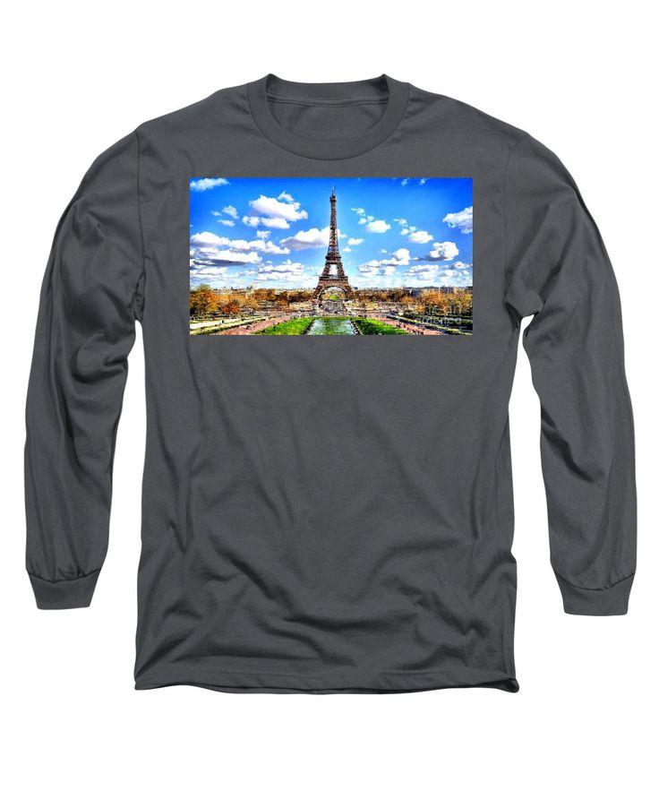 Long Sleeve T-Shirt - Paris Eiffel Tower