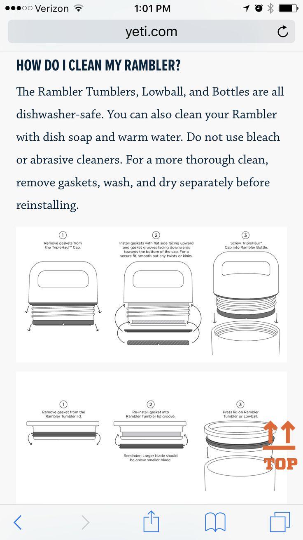How to clean Yeti Tumbler / Yeti cup / Yeti thermos