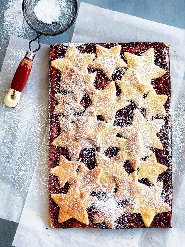 shortbread and raspberry slice