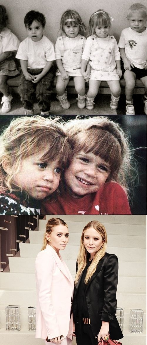 The Olsen twins: Then and Now (I feel like I grew up with these girls, born the same year and I watched Full House for as long as I can remember)
