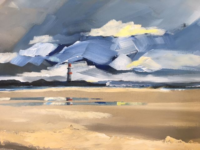 Lighthouse 1: Acrylic on canvas