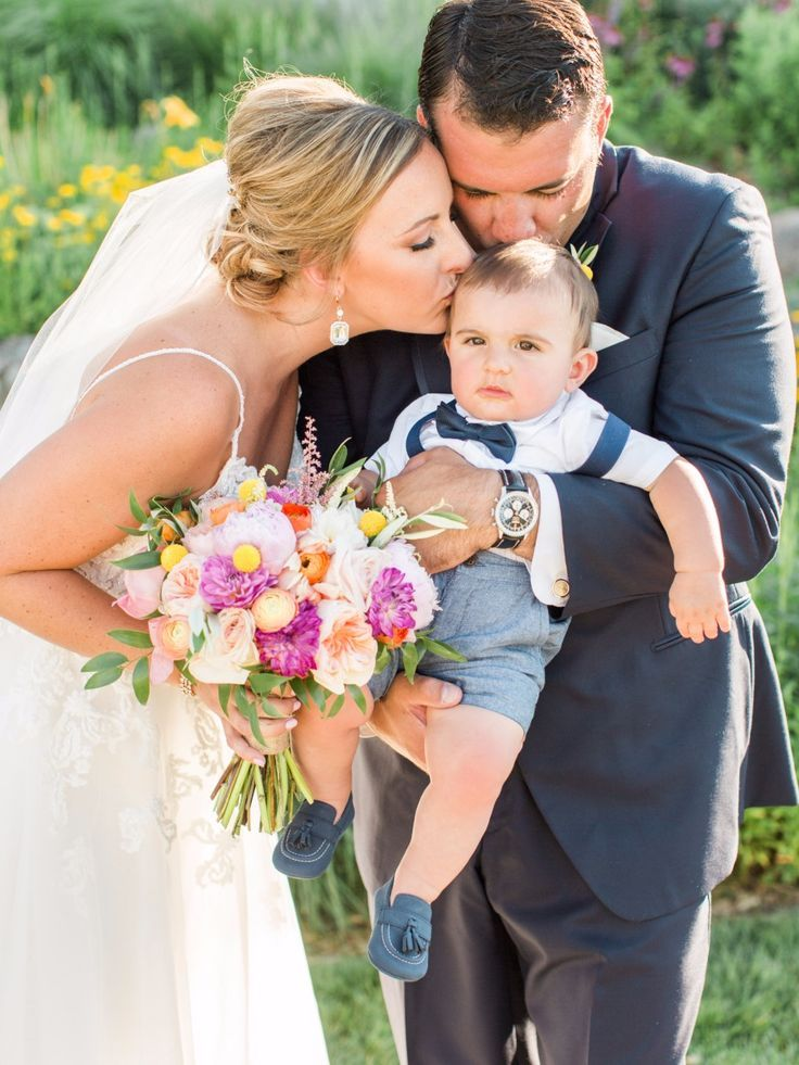 Wedding Photography Inspiration : sweet wedding family with baby ring bearer