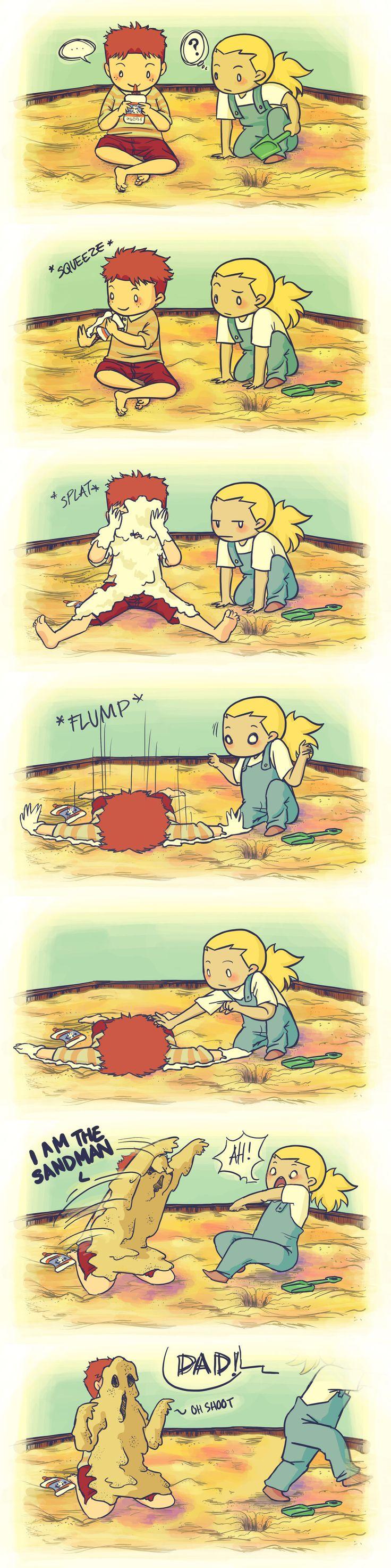 Sandman by ~tamagolandnomoto on deviantART. Oh Wally, You better run!