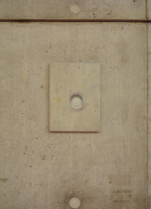 Juan Reos - Trampa  hueco circular - óleo s tela - 18x24cm - 2014 -  montada en CCC