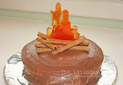 cute camping cake